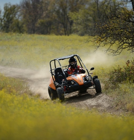 Enjoy Maximum Flexibility with the GTS 150 Off-Road Vehicle